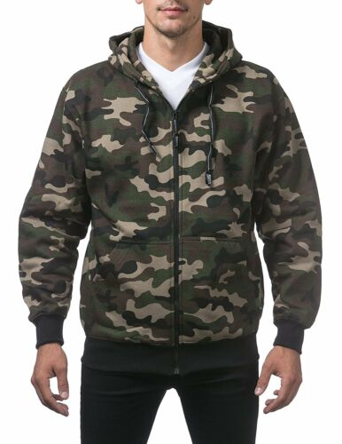 Proclub Mens ZIP HOODIE Heavyweight Sweatshirts Fleece Sweatshirt S-5XL Big