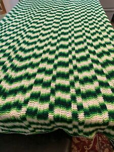 Blanket Afghan Throw Abstract Wavy