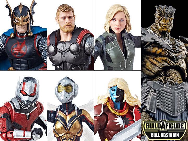 Marvel Legends Avengers Infinity War Set of 6 Action Figures Cull Obsidian BAF
