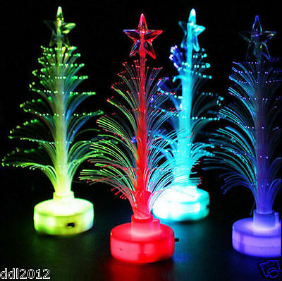 Xmas Tree Mini Colorful Changing LED Light Lamp Home Party Decoration Ornament