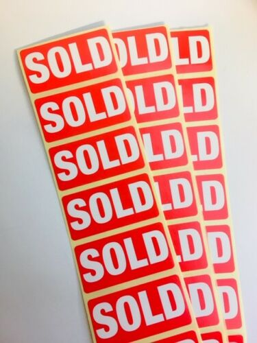 Labels Stickers Supplied in strips 100 /'SOLD/'