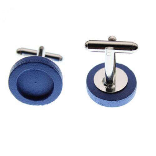 Base De Madera Para Hombre Redondo Gemelos en Blanco 12mm configuración Craft hallazgos Jewellery UK
