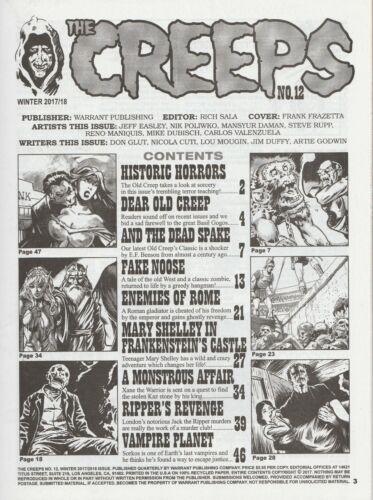 WARRANT PUBS FRAZETTA COVER CREEPS MAGAZINE #12 WINTER 2017 NM 9.4 UNREAD
