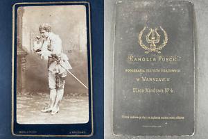 Karoli et Pusch, Warszawie, Mademoiselle Zimayer, actrice Vintage cdv albumen pr