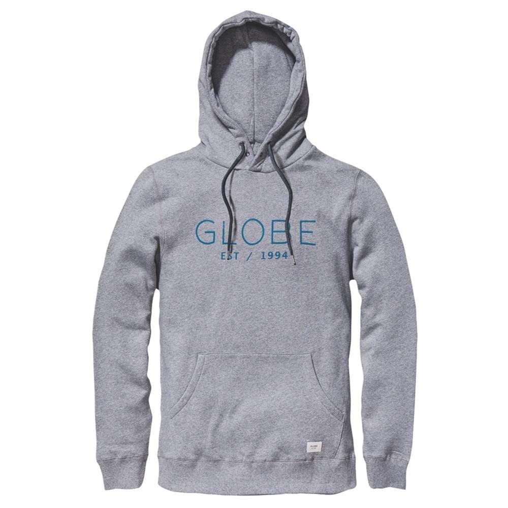 Hoodie Man Casual Globe Mod Hoodie III Pewter Marle Light Grey