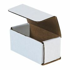50 4x2x2 Small White Corrugated Cardboard Packaging Shipping Mailing Box Boxes
