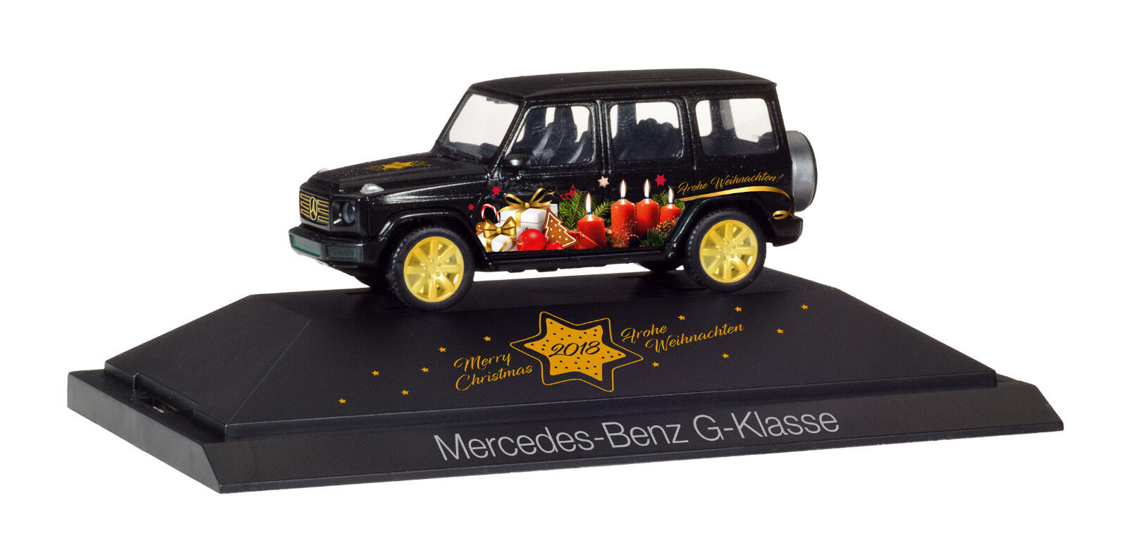 Herpa 102124 MB G - Class   Merry Christmas 2018   Ho New