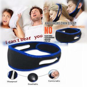 Snore Stop Belt Anti Snoring Cpap Chin Strap Sleep Apnea Jaw Solution TMJ BLUE 6902210516125