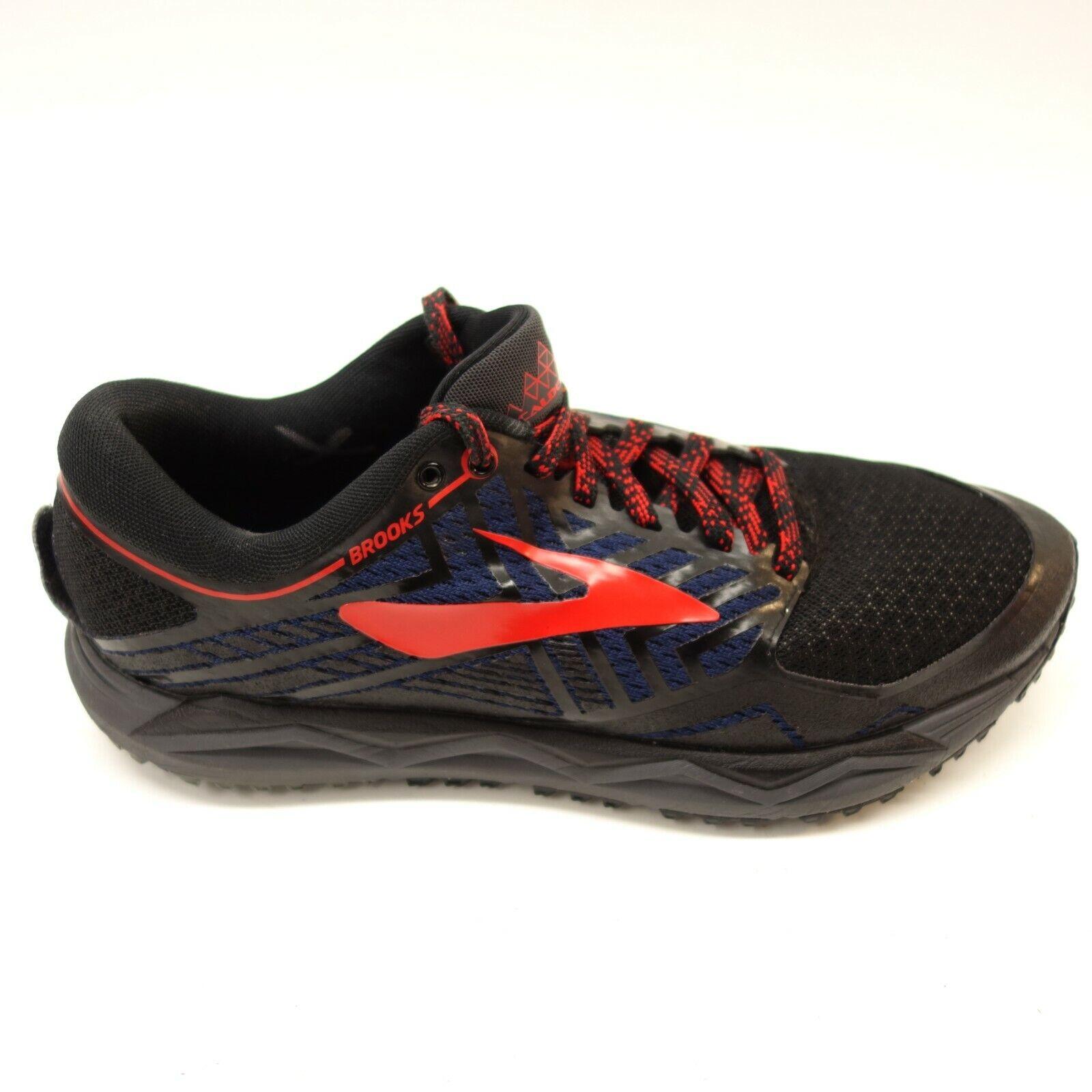 Brooks Herren Caldera 2 Größe 8,5 Schwarz Gelände Trail Run Athletic