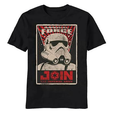 """Star Wars T-Shirt Strormtrooper """"Join the Imperial Army"""" Poster Black - XXL"""