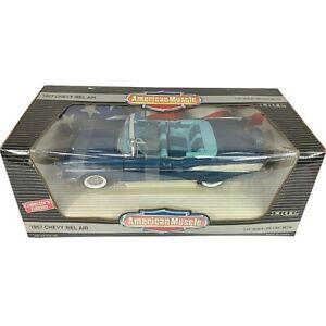 #7498 American Muscle Harbor Blue '57 Chevy Bel Air Convertible Die Cast 1:18