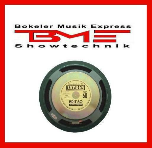Tayden Brit 60 Guitar Speaker  8 ohm NEW / NEU & OVP