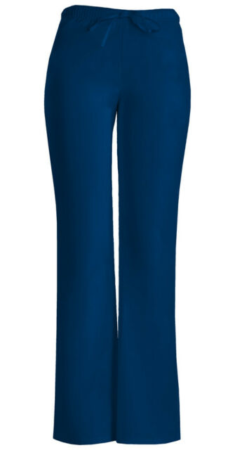 Navy Cherokee Workwear Junior Fit  Low Rise Drawstring Scrub Pants 24002 NAVW