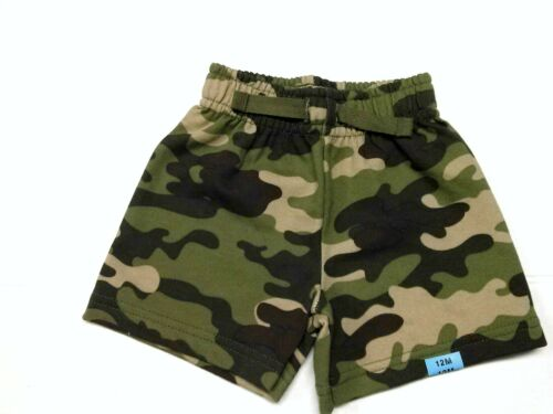 Baby Boys Camo Shorts Army Camouflage Rip-stop Pull-on Cotton Knit 12 Months