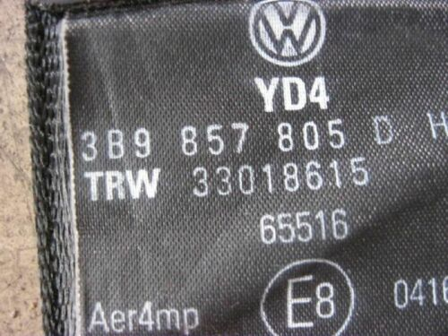 Sicherheitsgurt hinten links VW Passat 3B 3BG Gurt schwarz 3B9857805D