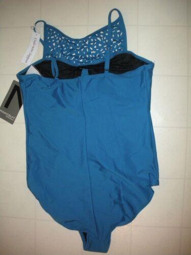 Magicsuit Miraclesuit Blue Cut it Out Juli 1 Pc Underwire Swimsuit Sz 12 NWT