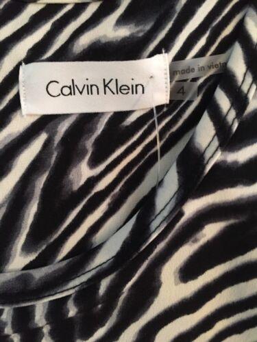nera con senza Salopette Calvin Sz maniche coulisse bianca Nwt 4 Klein YI8qww4