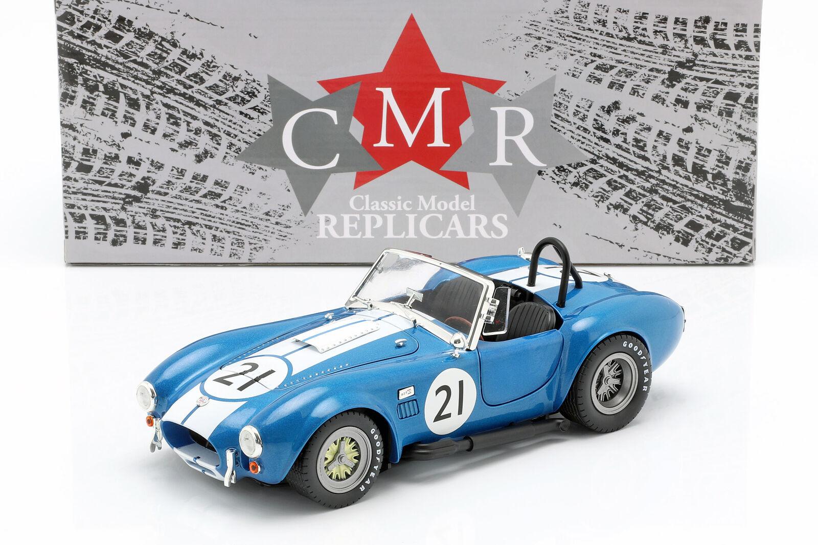 Shelby Cobra 427 Racing blu biancao 1 18 Cmr