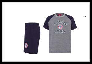 FC Bayern München Schlafanzug Gr.164 Kurz Shorty Kids BRANDNEU