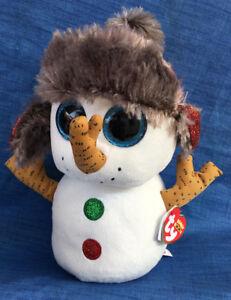 f36bdb056b9 W-F-L Ty Buddy Buttons 8 11 16in Snowman Christmas Boos Glubschi ...