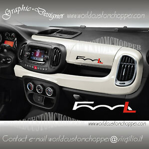 1 adh sif decal autocollants tableau de bord fiat 500 l voiture tuning sport ebay. Black Bedroom Furniture Sets. Home Design Ideas