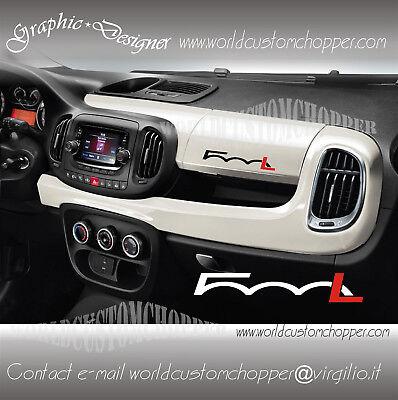 1 Adesivo Decal Stickers Cruscotto Fiat 500 L Auto Tuning Sport Famoso Por Materiales Seleccionados, DiseñOs Nuevos, Colores Deliciosos Y Mano De Obra Exquisita
