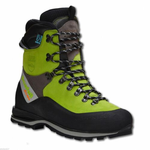 Blue Arbortec Scafell Lite Forestry Chainsaw Protective Boots Lime Black