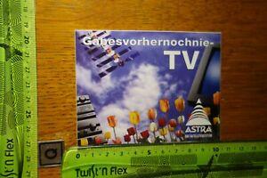 ADESIVI età radio tv satellite Astra sistema satellitare gabesvorhernochnie-TV
