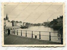 Foto, Wehrmacht, Partie am Kanal in Gent, Belgien, c (W)1297