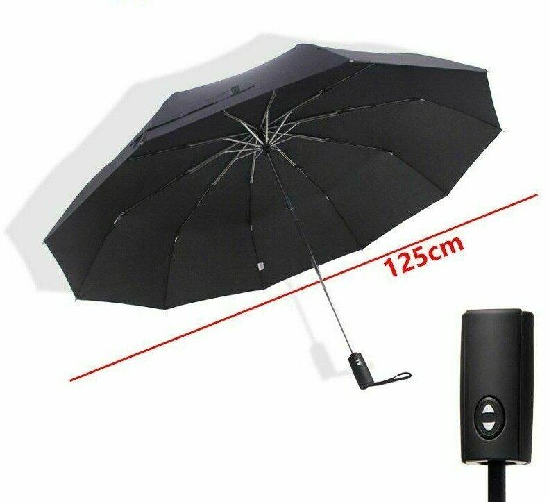Fully-automatic Big Umbrella Men Women Outdoor Windproof Three-folding Umbrellas