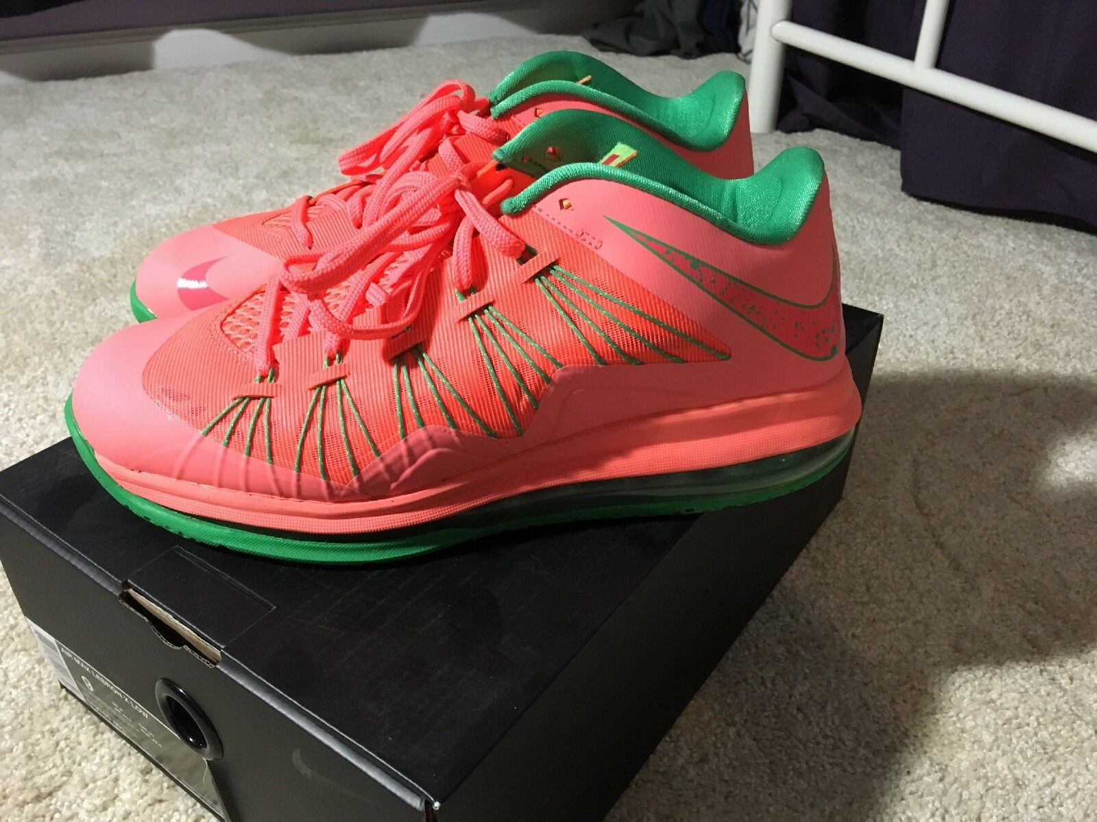 96c4091a32 James Low 10 Size 9 Watermelon And Green Lebron Nike nufkau9220-new shoes