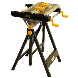 Portable Mitre Saw Stand Tilting Height Adjustable Workmate Folding Work Bench Ebay