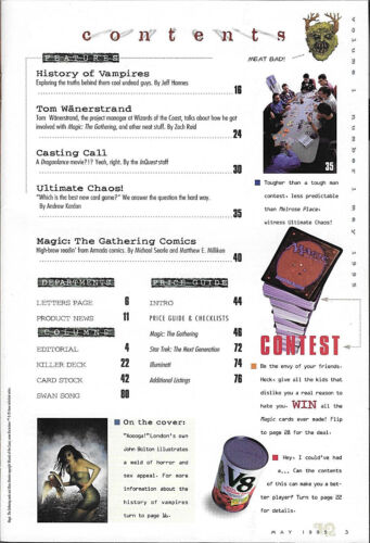 InQuest Magazine Issue #1 Brand New nm 1995 MTG Wizard/'s WOTC Amricons