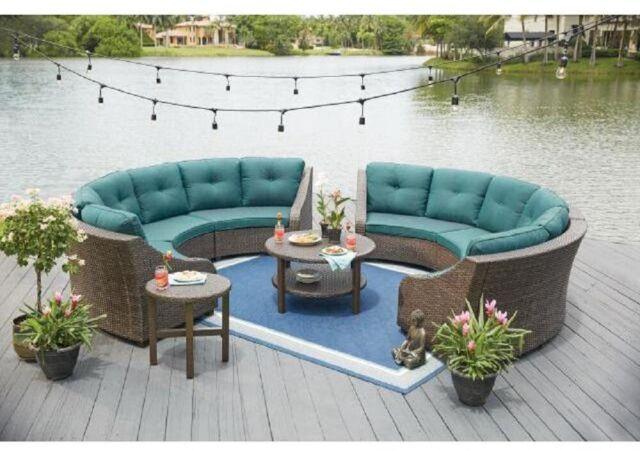 Astonishing Hampton Bay Wicker Outdoor Sofa Cushion Patio Furniture Blue Polyfiber Cjindustries Chair Design For Home Cjindustriesco