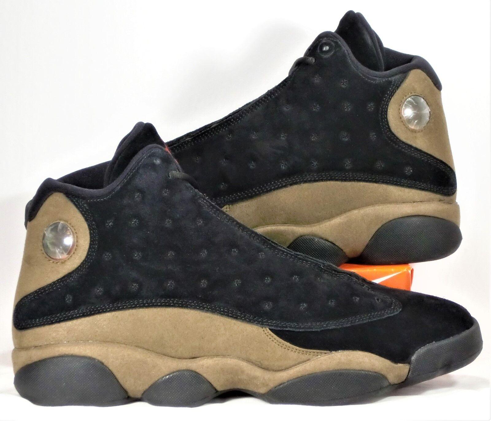Nike air jordan 13 xiii retrò nero & palestra red & olive sz nuovi 414571 006