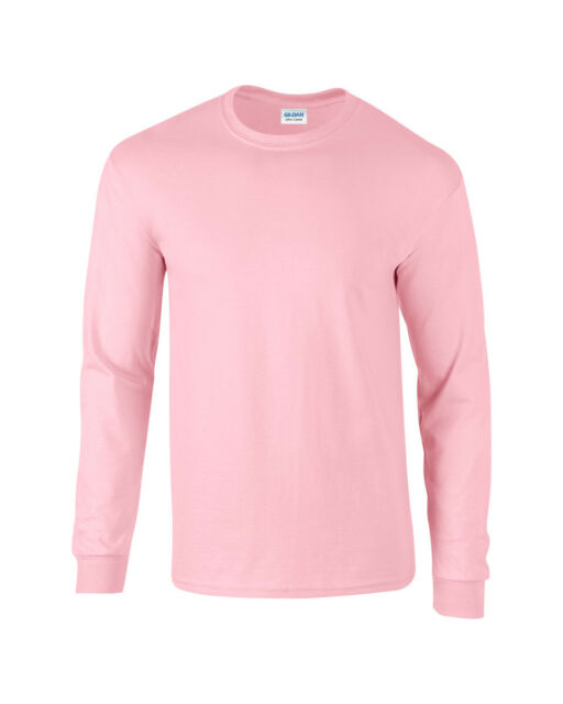 0c6d723a Adult Gildan Long Sleeve Ultra Cotton T-shirt-mens Tops S M L XL 2xl ...