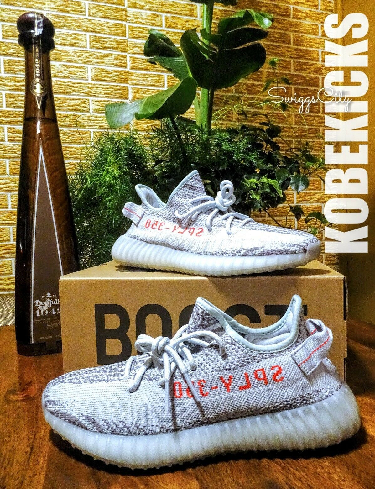 YEEZY 350 BOOST blueE TINT V2 KANYE WEST CONFIRMED ORDER SIZE 10 BRAND NEW RARE