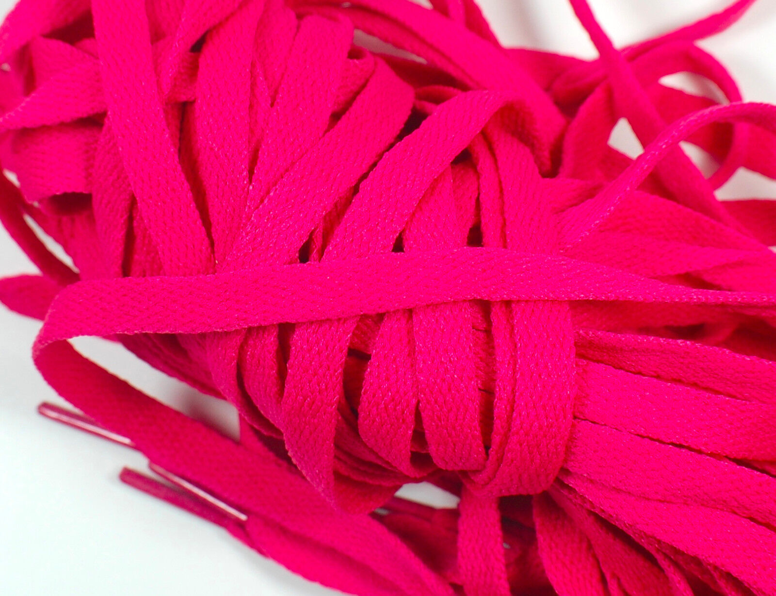 Eyelets 5mm Thick Sneakers Shoelace Round Shoelace Hot Pink 45 7 Pr