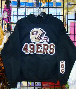 M SAN FRANCISCO 49ers L XL 4XL BLACK Crew Neck Sweatshirt- S 2XL 5XL 3XL