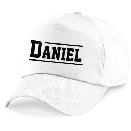 Printed Customised Hat Girls Boys Kids Personalised Varsity Name Baseball Cap