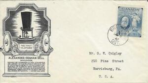 Canada Stamps Alexander Graham Bell FDC Scott 274