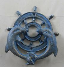 Iron Ships Wheel Dolphins Doorknocker Dolphin Door Knocker Boat Ship Ocean Sea