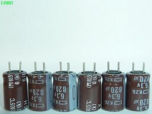 100 x Nippon NCC 6.3V820uF KZG Motherboard Capacitors 8X11.5 LOW ESR SALE 0258