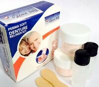 Perma Soft Denture Reline | Denture Reliner Kit 2 Liner Kits Included