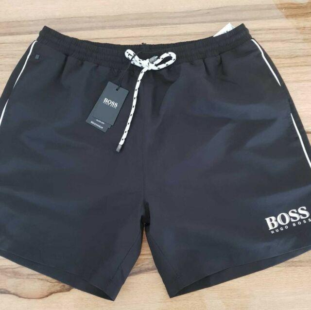 8d0290373 Hugo Boss short swimsuit black for men model starfish 50220844 Quick dry  beachwe