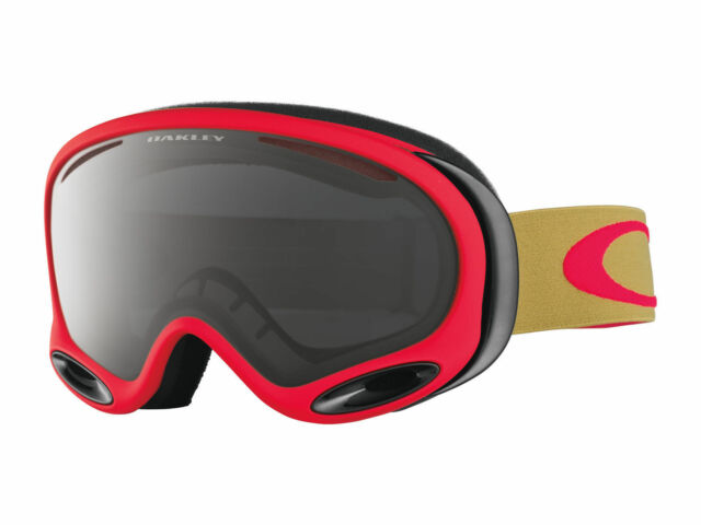 d4af38cd3c7 Oakley a Frame 2.0 Goggles Copper Red Prizm Dark Grey Snowboard Ski RARE
