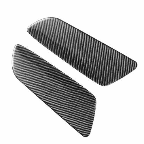 2Pcs Carbon Fiber Interior Rear Door Panel Trim Cover For Ford Mustang 2015-2019