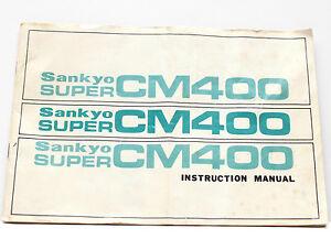 Vintage-Sankyo-Super-CM400-Instruction-Manual-Guide