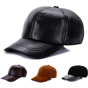 4d1b5144b2d Image is loading Adjustable-Guarantee-Genuine-Cow-Leather-Baseball-Cap- Leather-