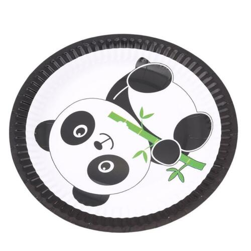 UK Cute Panda Birthday Party Supplies Kit Tableware Decoration Children Gifts